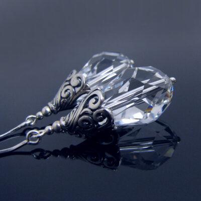 Kolczyki ślubne łezki - Swarovski srebro - Holly
