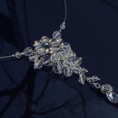 Naszyjnik ślubny kryształowy - Rosella