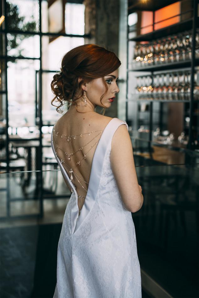 Ślubny body chain - pajęczynka Swarovski Grace