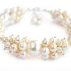Bogata bransoletka gronkowa perły Swarovski - Cynthia