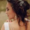 Długie kolczyki ślubne - gronka Swarovski - perły białe