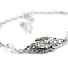 Rzeźbiona delikatna bransoletka ślubna Vivienne - Swarovski Crystal