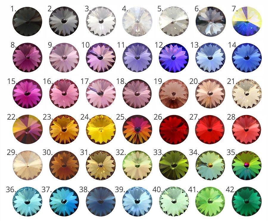 Kryształy Swarovski do spinek mankietowych - spinki do mankietow - jaki kolor spinek dla Pana Młodego?