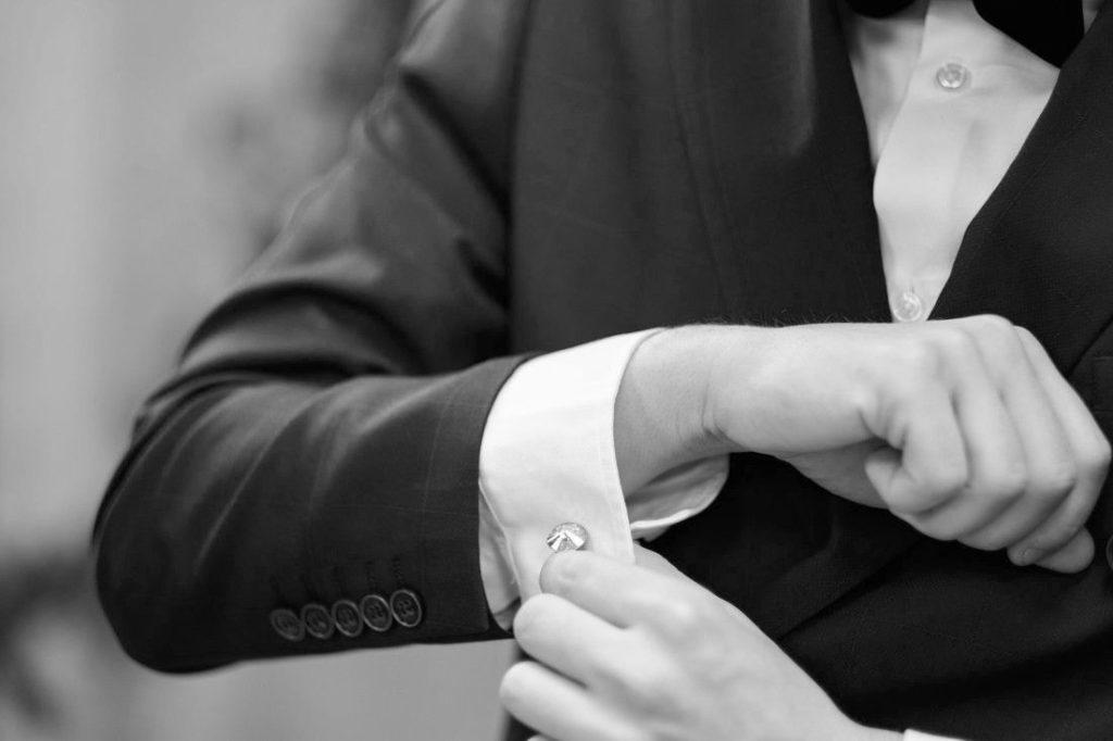 Ślubne spinki do mankietów z kryształami Swarovski Elements - Gianni - Pan Młody