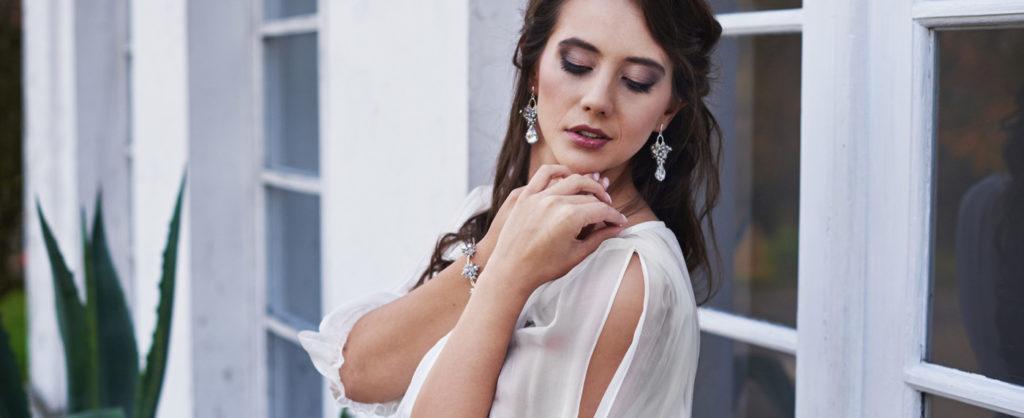 Kolczyki ślubne i bransoletka ślubna z kryształami Swarovski - sklep internetowy oraz zamówienia indywidualne