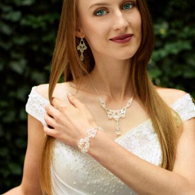 Komplet biuterii ślubnej Lacey - Swarovski Crystal - Panna Młoda