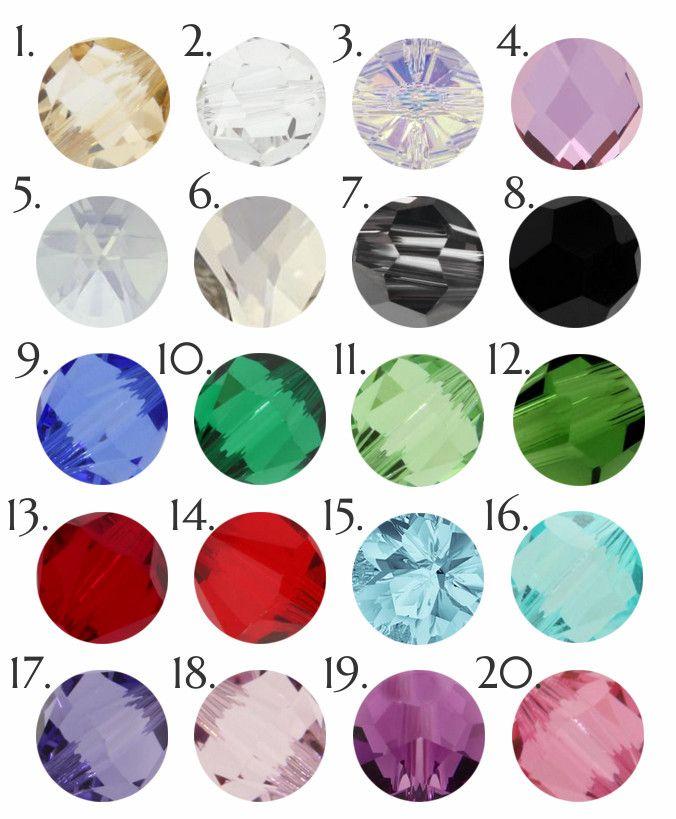 Ślubny naszyjnik na plecy - kryształy Swarovski - kolory kryształów