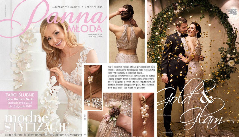 Złota biżuteria ślubna Anelle w magazynie Panna Młoda