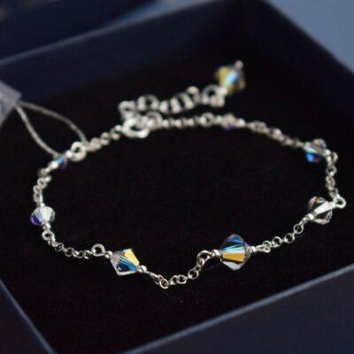 Delikatna bransoletka ślubna Gracefull Classic - Swarovski Crystal AB