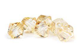 Łańcuszek na plecy - do ślubu - kryształy Swarovski Golden Shadow
