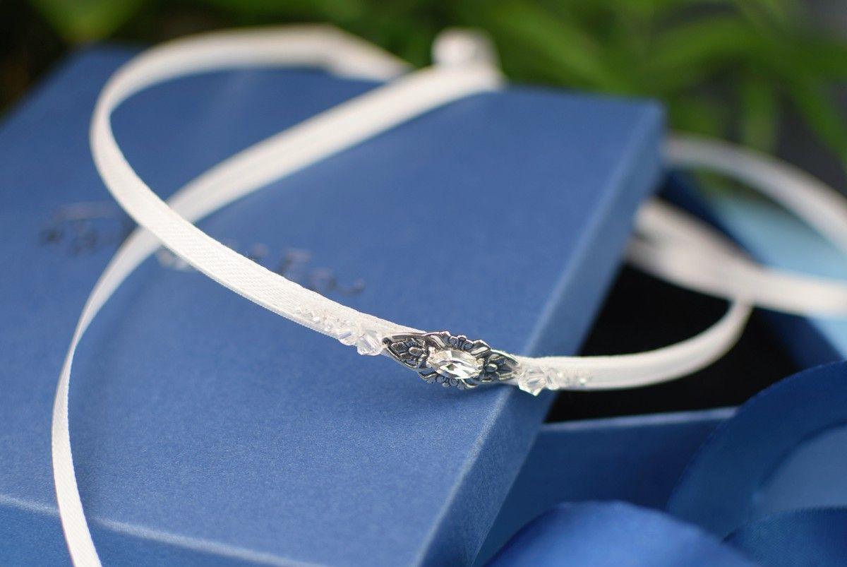 Opaska do włosów w stylu retro - Vivienne Crystal - z kryształami Swarovski