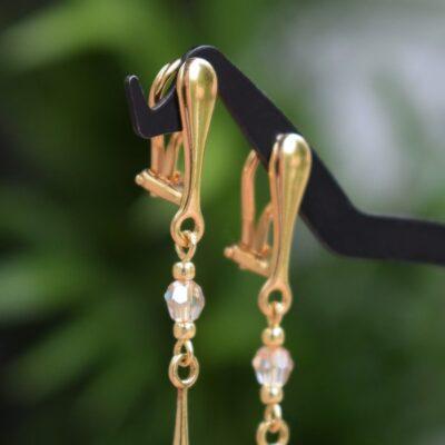 Klipsy ślubne - wygodne zapięcia z pozłacanego srebra